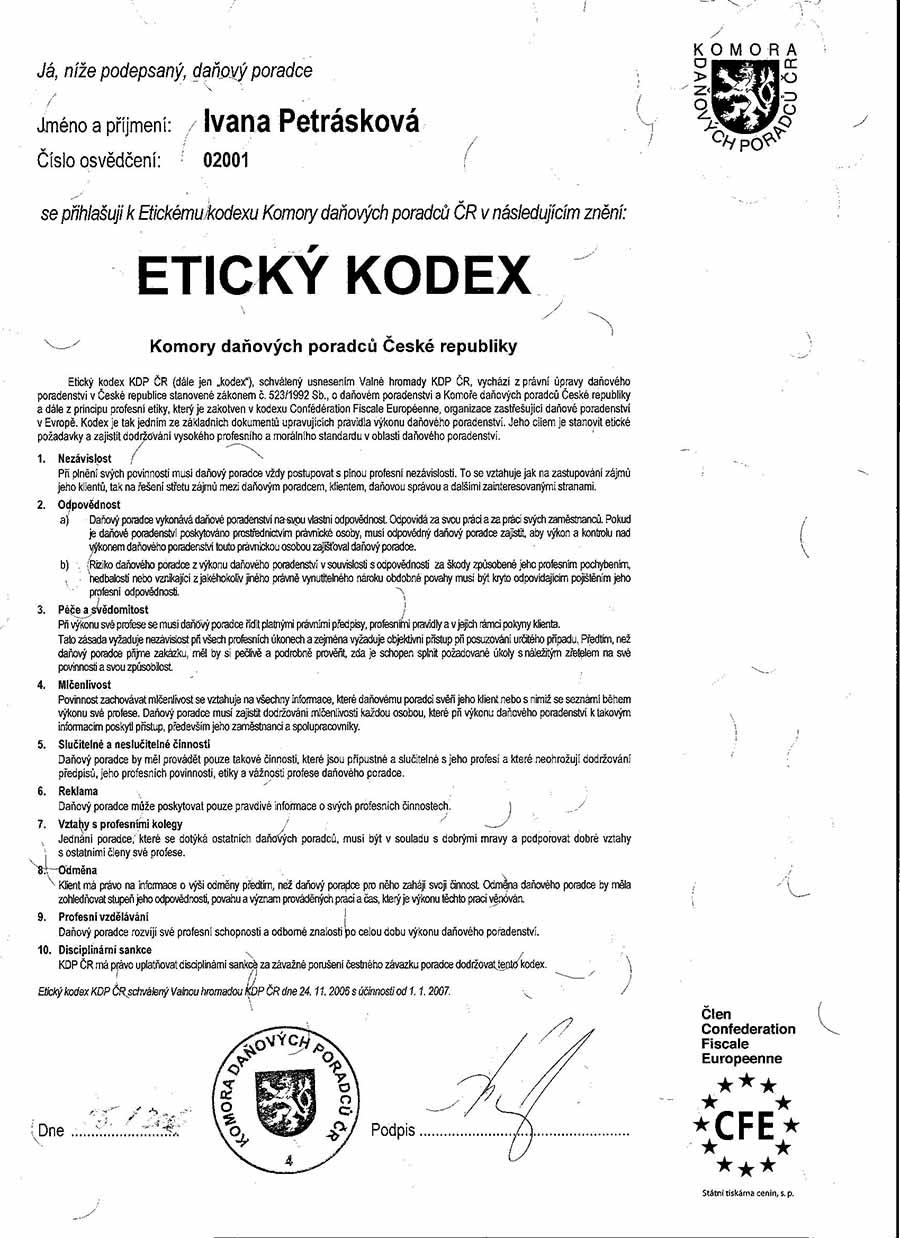 Etický kodex